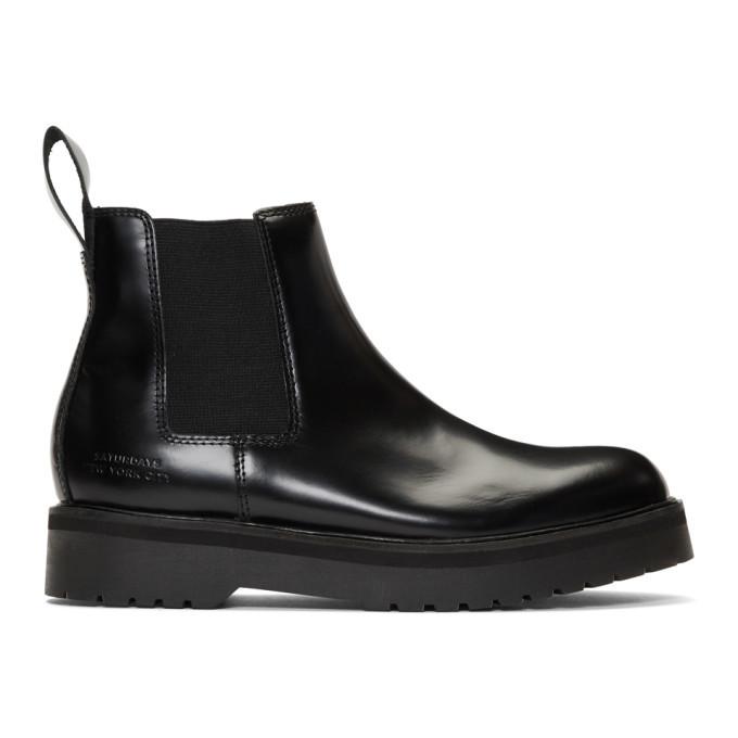 Photo: Saturdays NYC Black Rick Chelsea Boots
