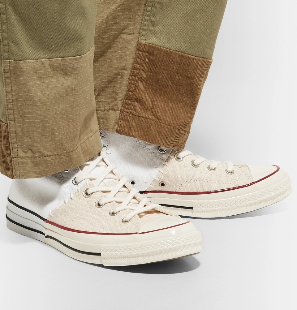 Converse - 1970s Chuck Taylor All Star Colour-Block Canvas High-Top Sneakers - White