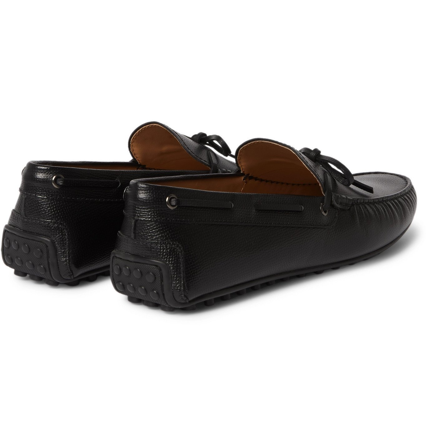 Tod's - City Full-Grain Leather Driving Shoes - Black