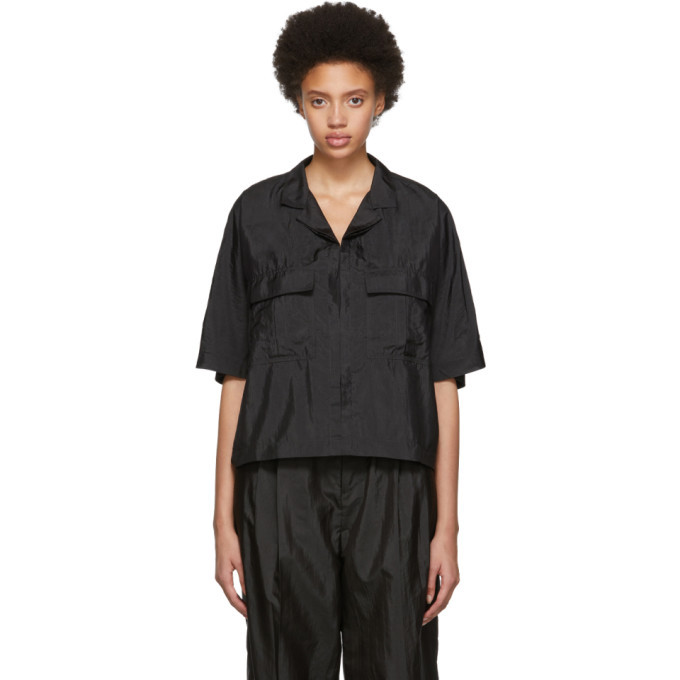 Photo: Lemaire Indigo Boxy Short Sleeve Shirt