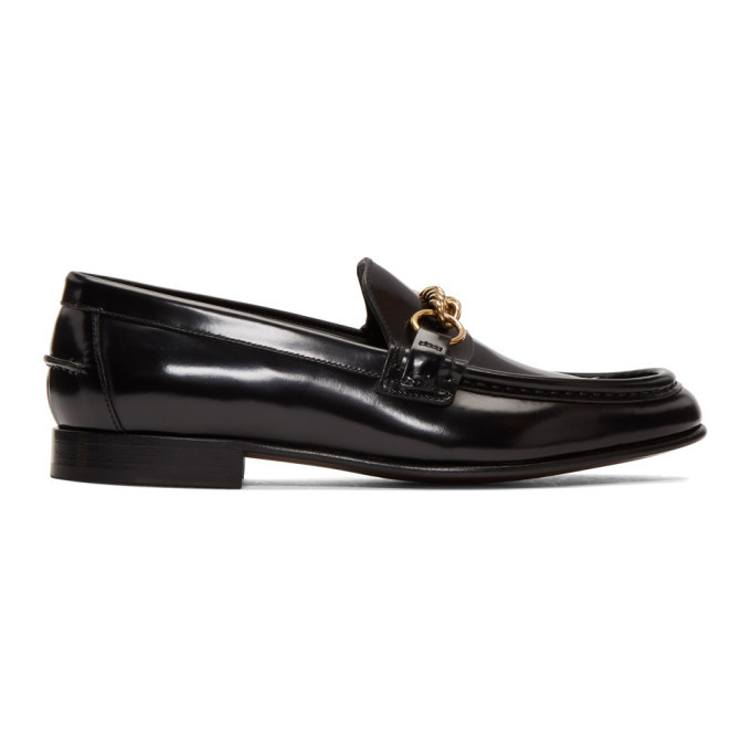 Photo: Burberry Black Chain Solway Loafers