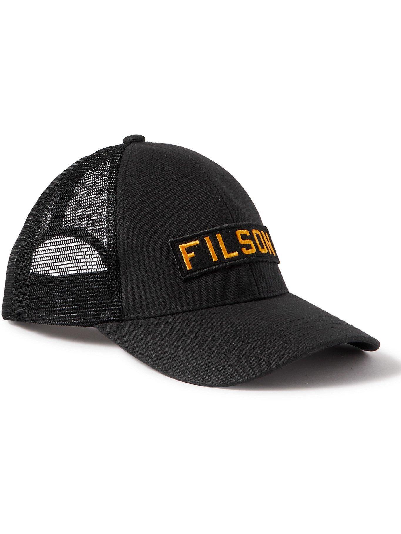 Photo: FILSON - Logo-Appliquéd Mesh-Panelled Cotton-Twill Baseball Cap