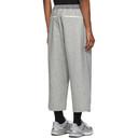Sacai Grey Melton Pants