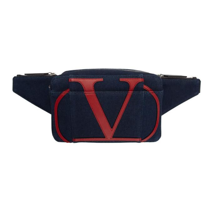 Photo: Valentino Blue Valentino Garavani Denim VLogo Belt Bag