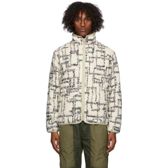 Photo: John Elliott Reversible Off-White Polar Fleece Zip-Up Jacket