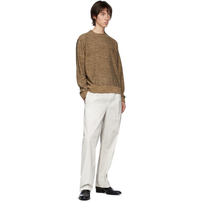 Lemaire Off-White Poplin Drawstring Trousers