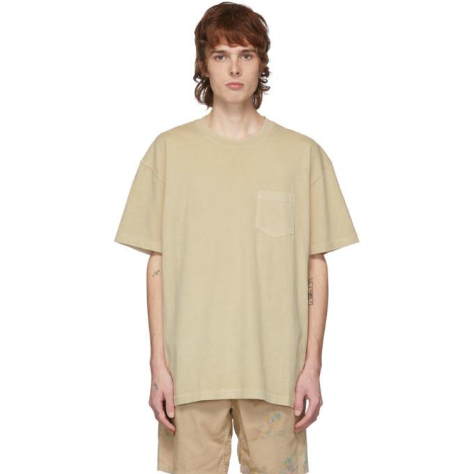 Photo: John Elliott Tan Loose Stitch Pocket T-Shirt