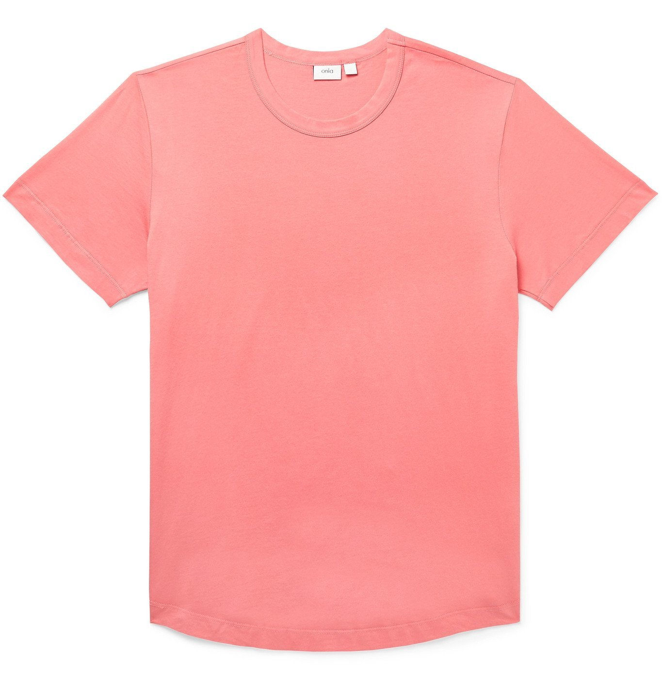 Photo: Onia - Joey Cotton-Jersey T-Shirt - Pink
