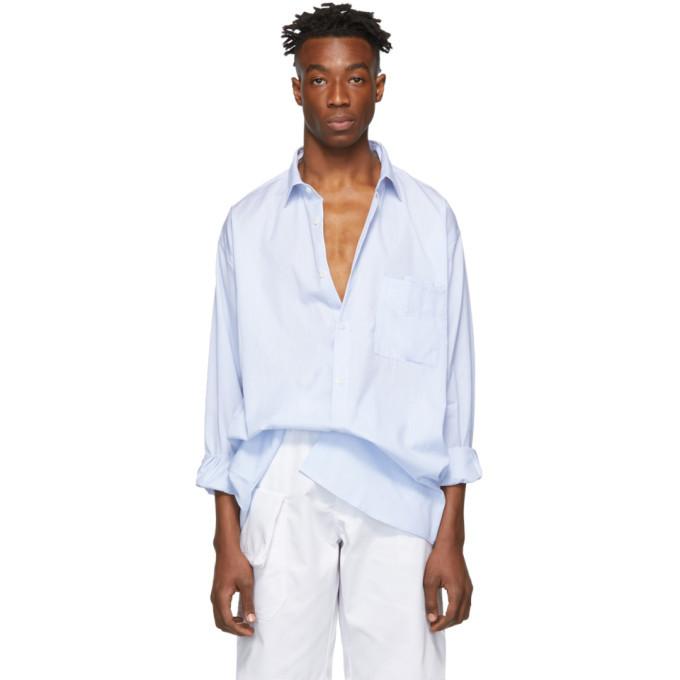 Photo: Jacquemus Blue La Grande Chemise Shirt
