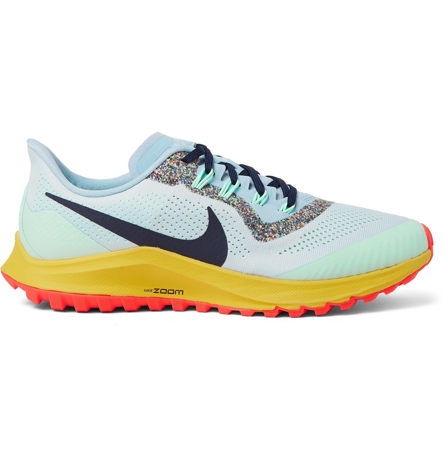 Photo: Nike Running - Air Zoom Pegasus 36 Trail Mesh Running Sneakers - Blue
