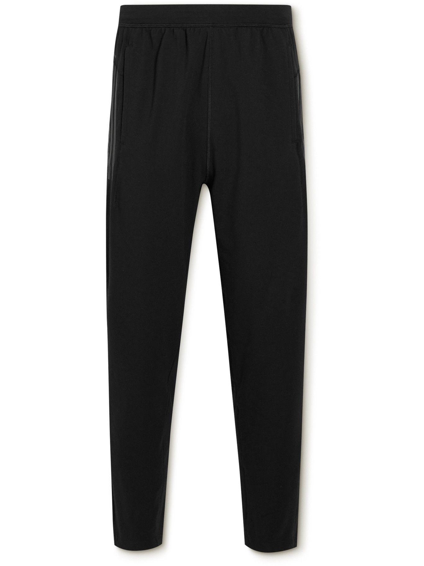 Photo: adidas Sport - Tapered Cotton-Blend Yoga Sweatpants - Black