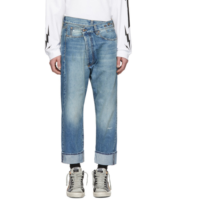 Photo: R13 Blue Cross Over Jeans
