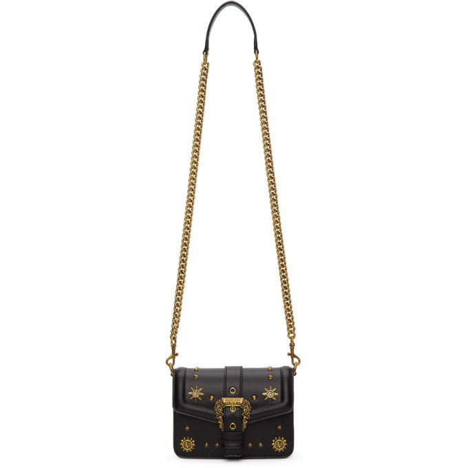 Photo: Versace Jeans Couture Black Small Cowboy Buckle Bag