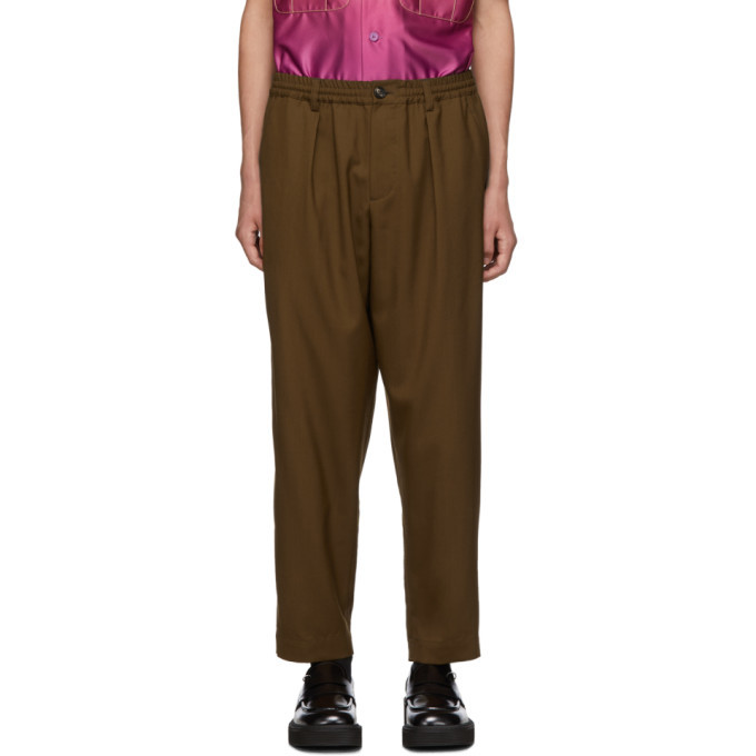 Photo: Marni Brown Tropical Wool Tapered Trousers