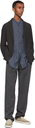 Giorgio Armani Grey Links-Stitch Blazer