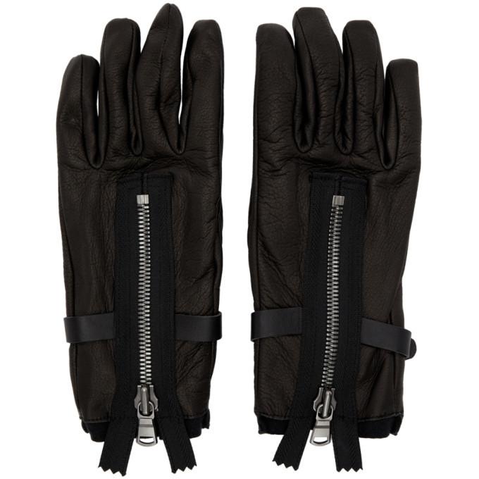 Photo: The Viridi-anne Black Leather Zipper Gloves