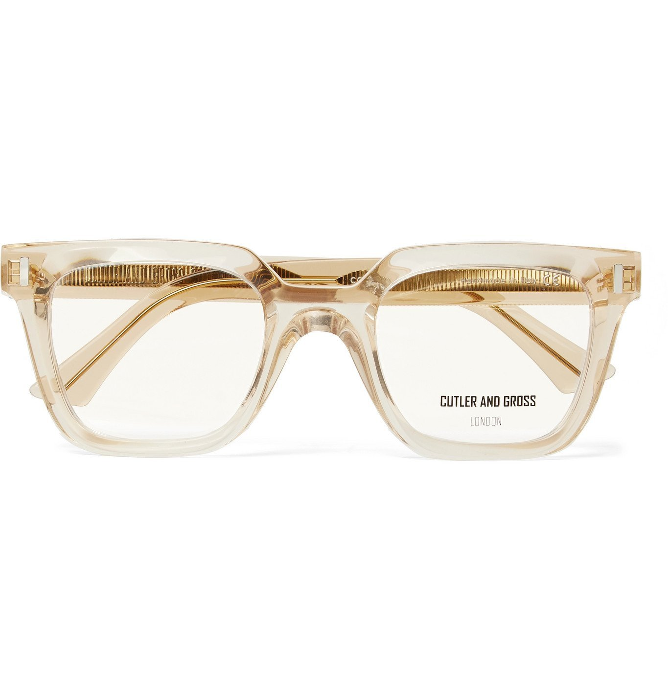 Photo: CUTLER AND GROSS - 1305 Square-Frame Acetate Optical Glasses - Yellow