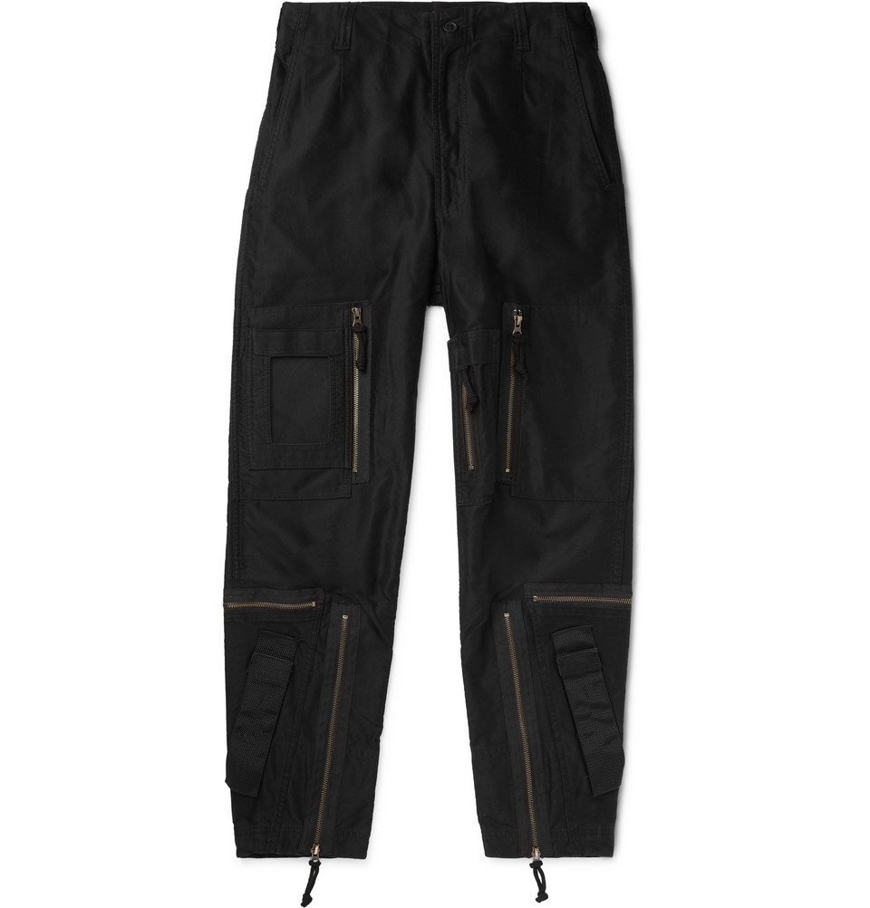 Photo: Cav Empt - Black Yossarian Tapered Cotton-Twill Cargo Trousers - Black
