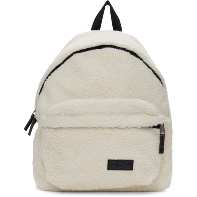 Photo: Eastpak Beige Shearling Padded Pakr Backpack