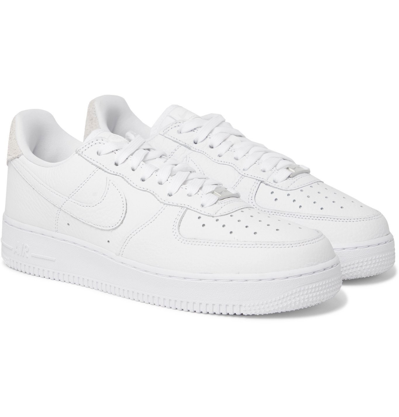 Nike - Air Force 1 '07 Craft Full-Grain Leather and Suede Sneakers ...