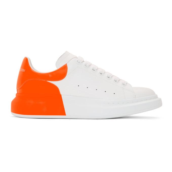 alexander mcqueen sneakers white orange