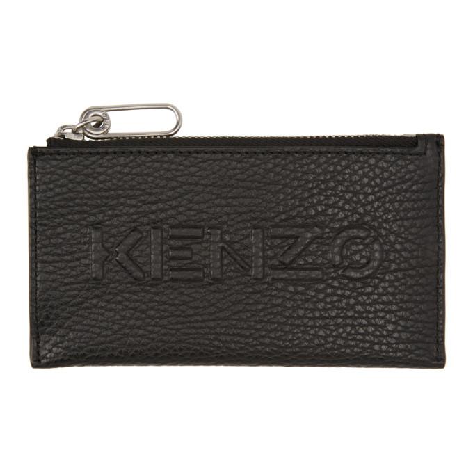 Photo: Kenzo Black Zip Imprint Card Holder