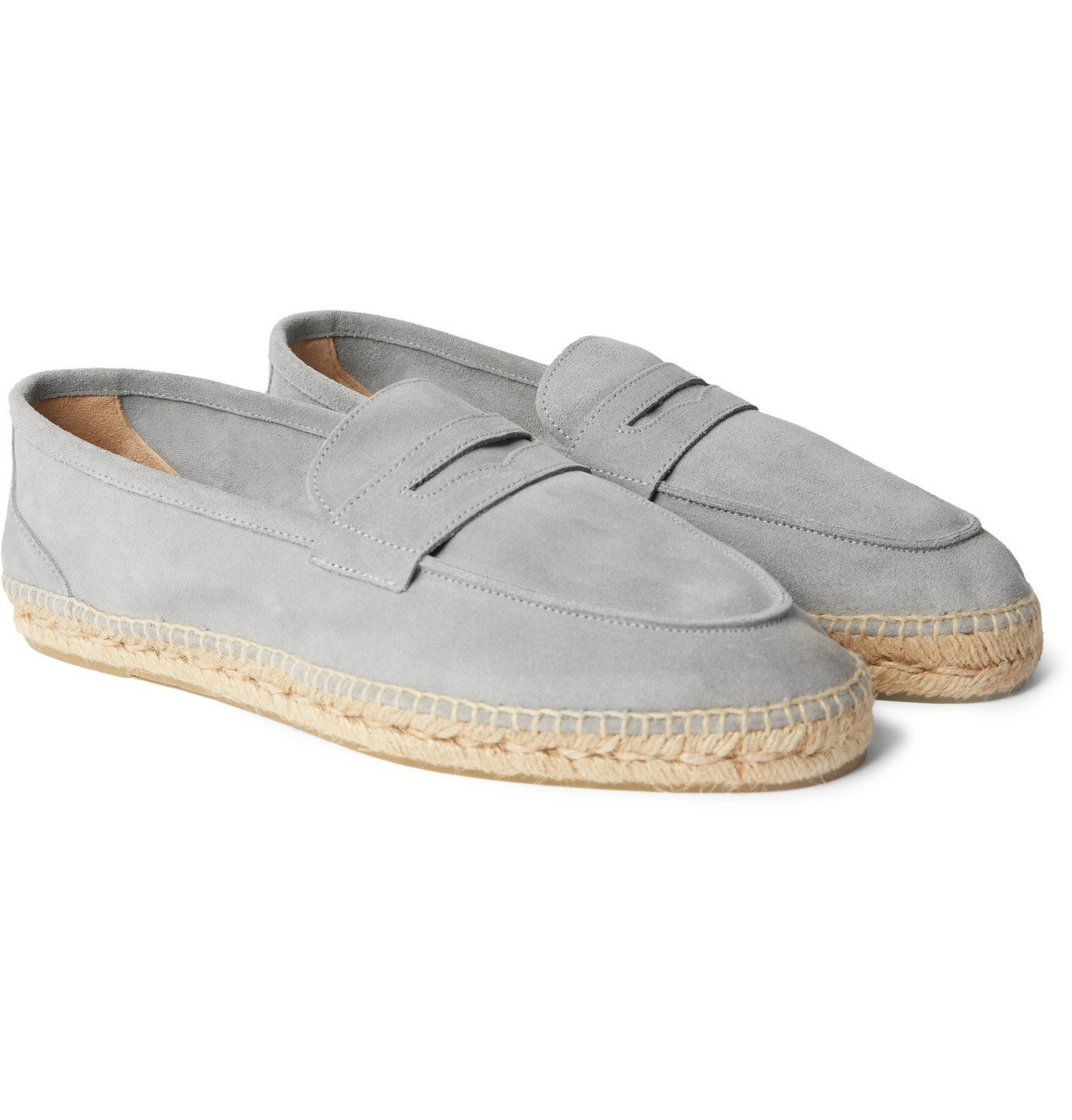 Photo: Castañer - Nacho Suede Espadrille Loafers - Gray