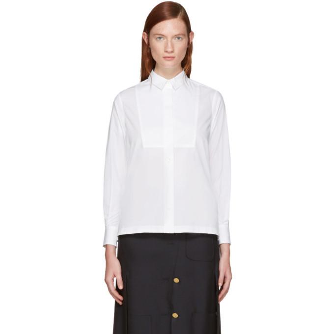 Sacai White Classic Shirting Shirt