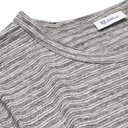 Schiesser - Helmut Striped Mélange Linen T-Shirt - Men - Gray