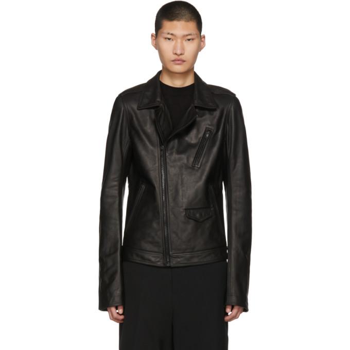 Photo: Rick Owens Black Leather Stooges Jacket