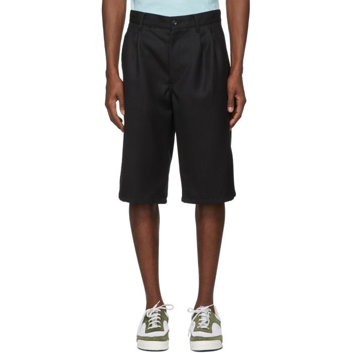 Photo: Comme des Garçons Shirt Black Wool Gabardine Shorts