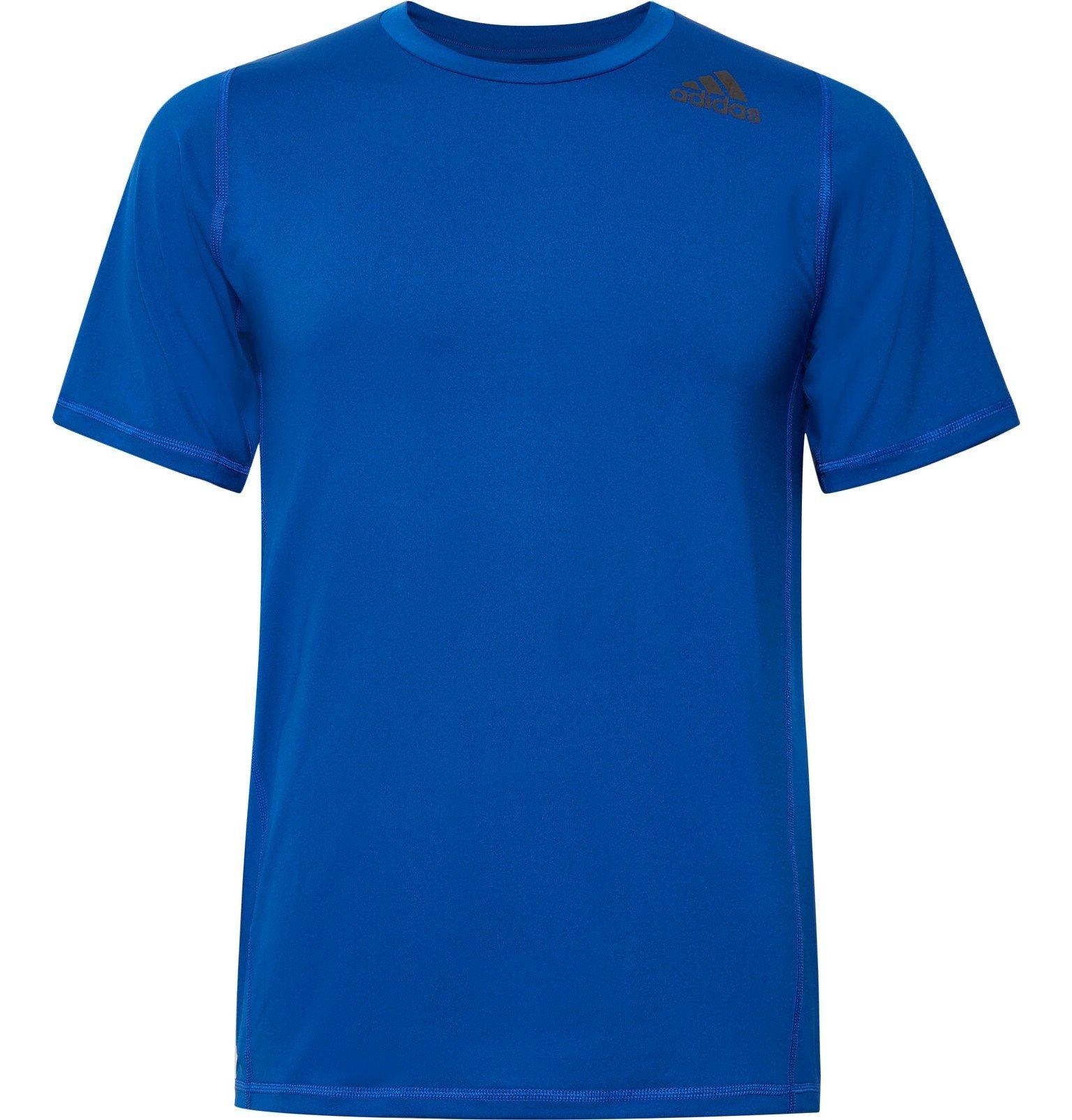 Photo: Adidas Sport - Alphaskin Techfit Climalite T-Shirt - Blue