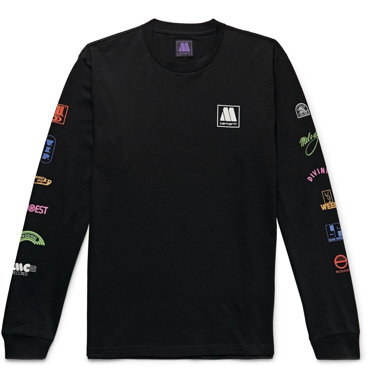Photo: Carhartt WIP - Motown Records Logo-Print Cotton-Jersey T-Shirt - Black