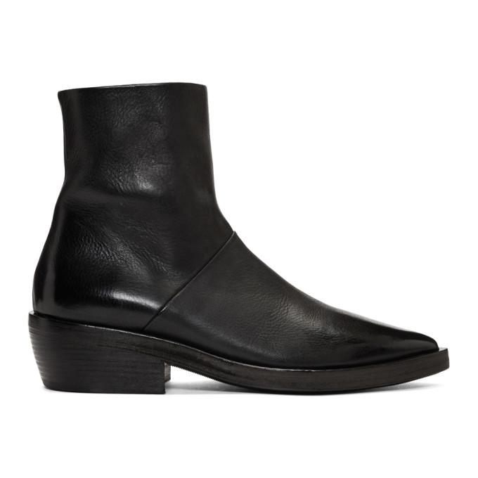 Photo: Marsell SSENSE Exclusive Black Coneros Boots