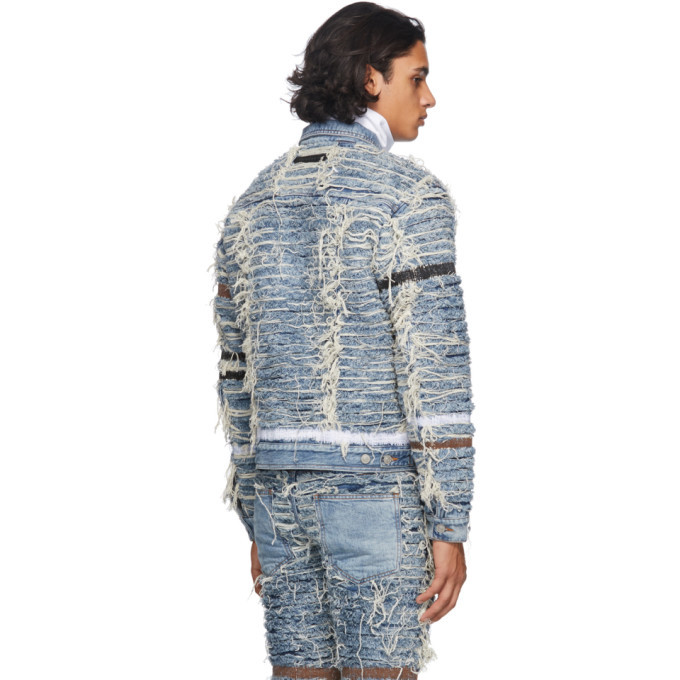 1017 ALYX 9SM Blue and Beige Blackmeans Edition Denim Jacket