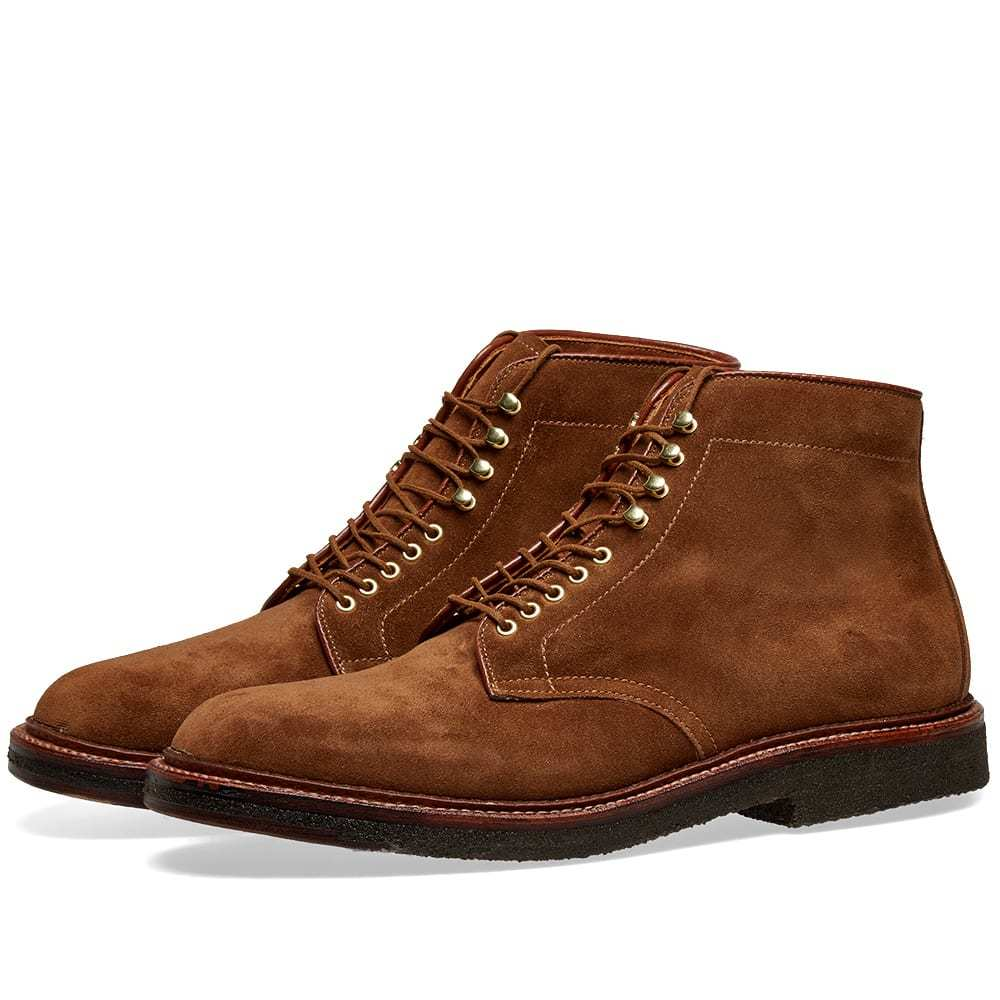 Photo: Alden Round Toe Boot Snuff Suede