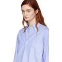 Comme des Garcons Homme Plus Blue Oxford Drawstring Shirt
