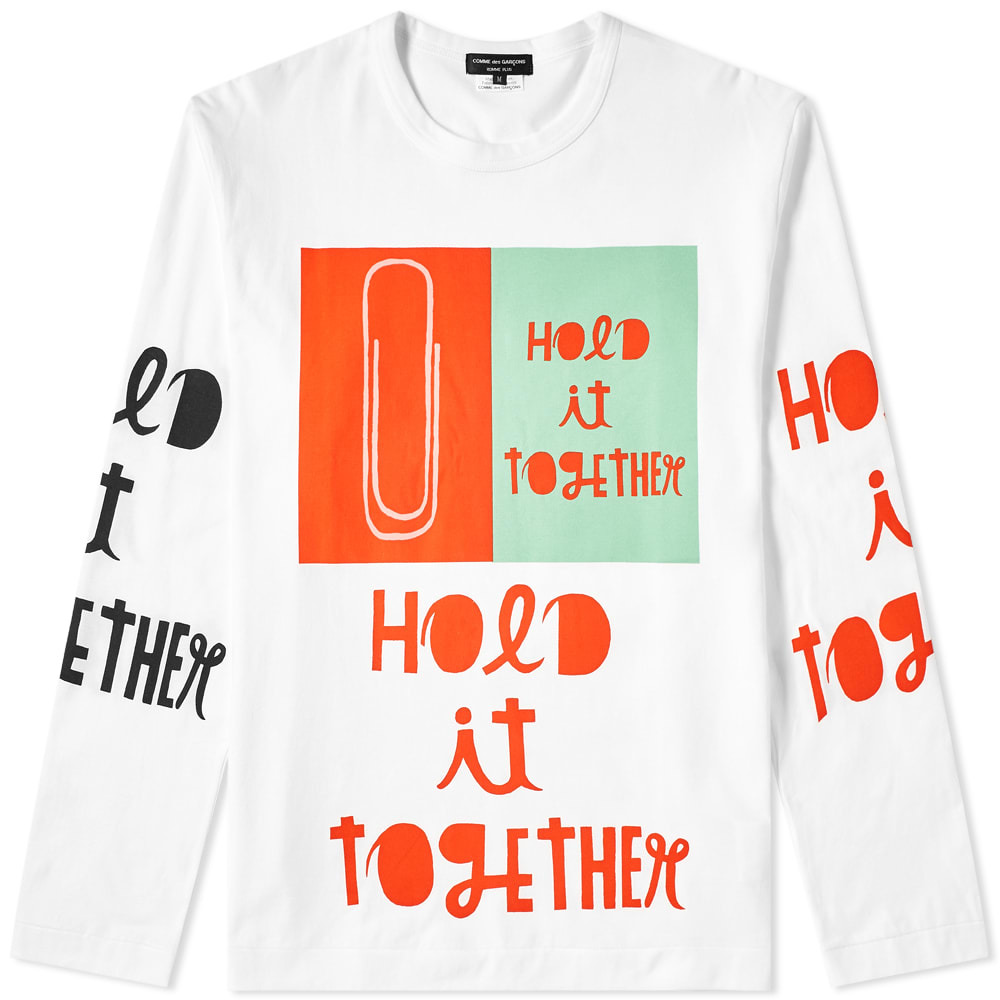 Photo: Comme des Garcons Homme Plus Long Sleeve Hold It Together Tee