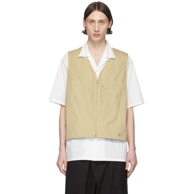 Photo: Y-3 Khaki Heavy Poplin Workwear Vest