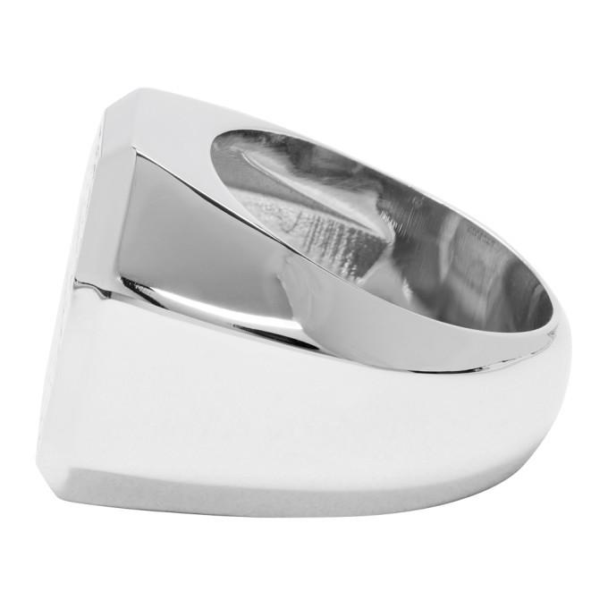 Versace Silver Octagonal Ring