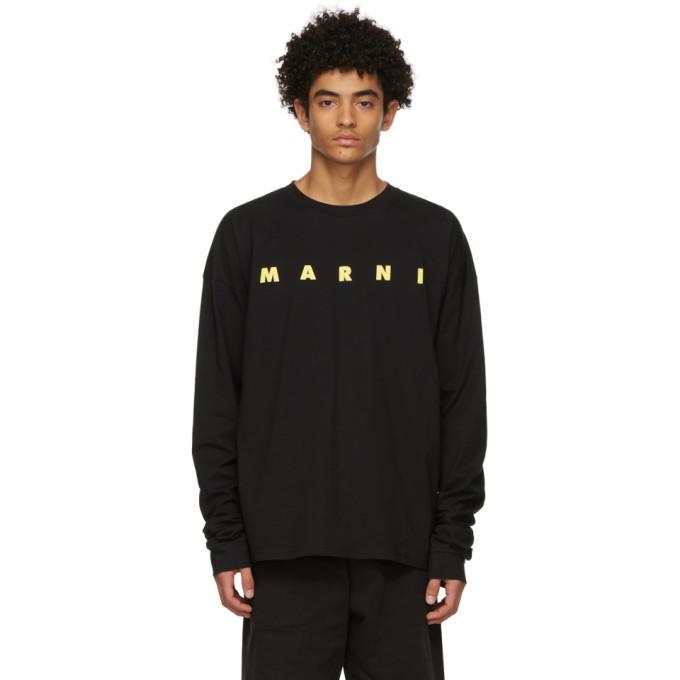 Photo: Marni Black Logo Long Sleeve T-Shirt