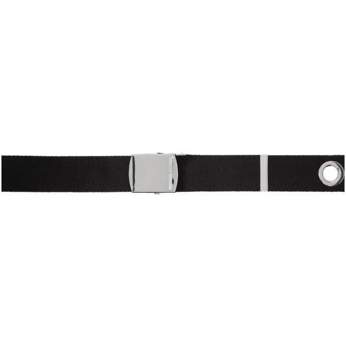 Photo: McQ Alexander McQueen Black Webbing Roller Buckle Belt