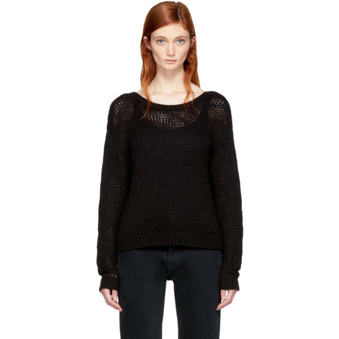 Won Hundred Black Cropped Zarina Sweater