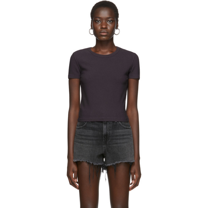 Photo: alexanderwang.t Purple Rib Bias Shrunkens T-Shirt