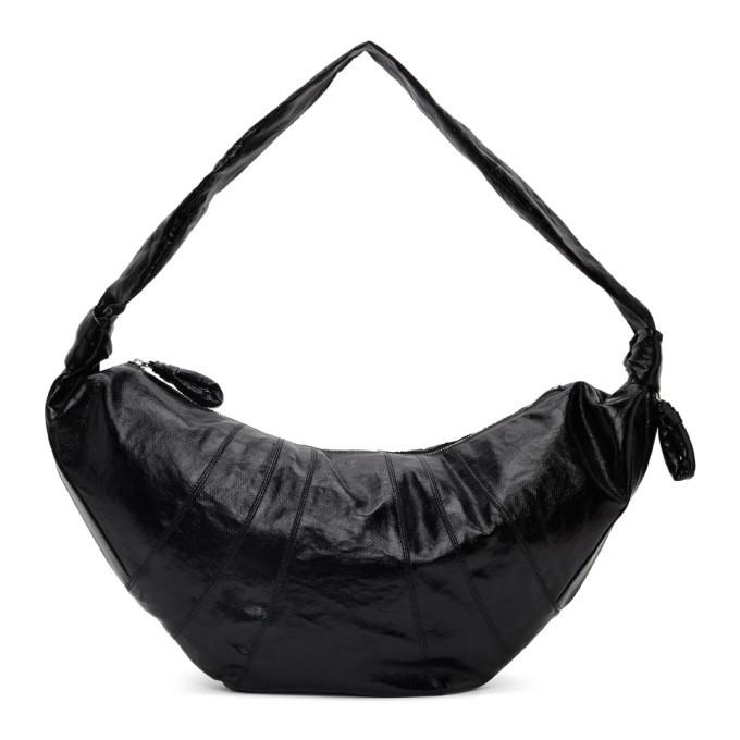Photo: Lemaire Black Large Croissant Bag