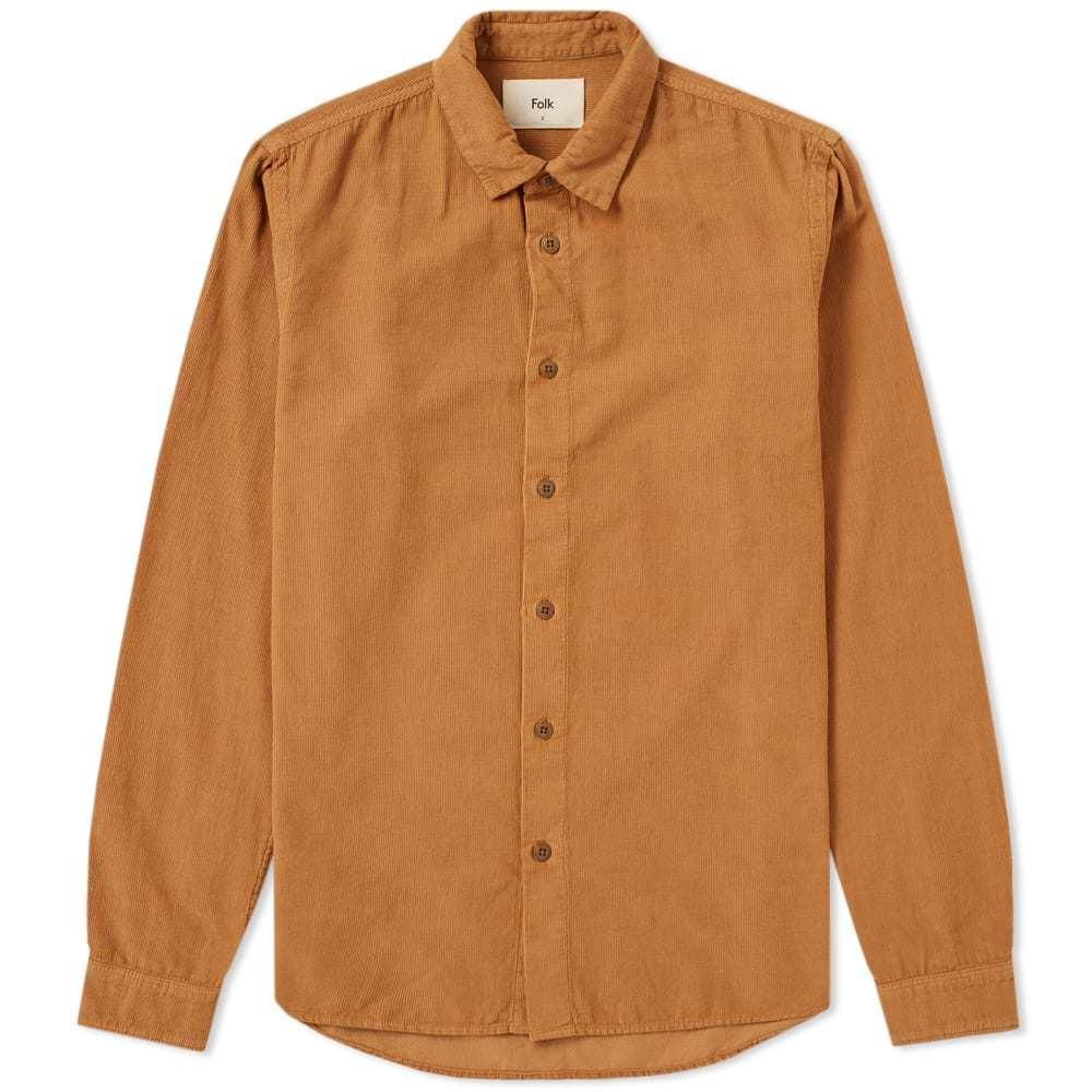 Photo: Folk Baby Cord Shirt Brown