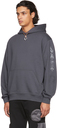 MCQ Grey Relaxed Storm Cloud Hoodie