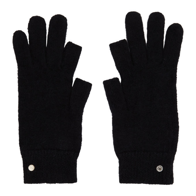 Photo: Rick Owens Black Mohair Touchscreen Gloves