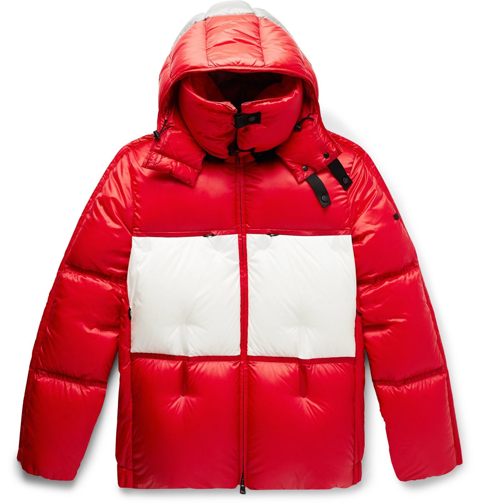 Photo: Moncler Genius - 5 Moncler Craig Green Coolidge Colour-Block Quilted Shell Hooded Down Jacket - Red