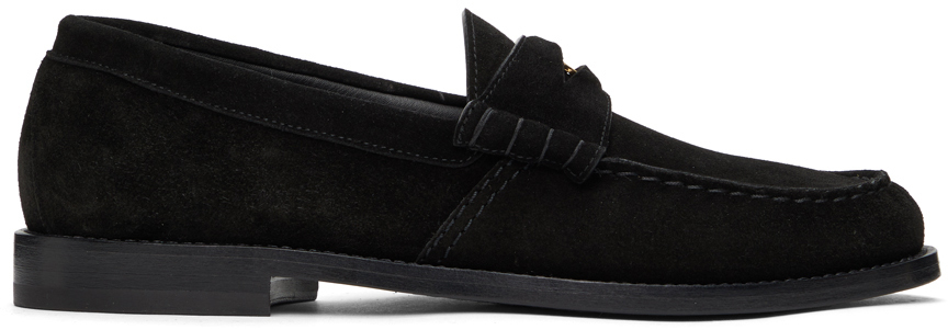 Photo: Rhude Black Suede Penny Loafers